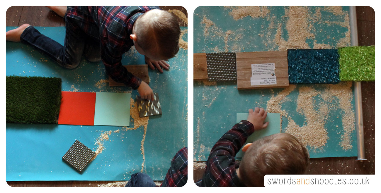 Children creating Sensory Stepping Stones