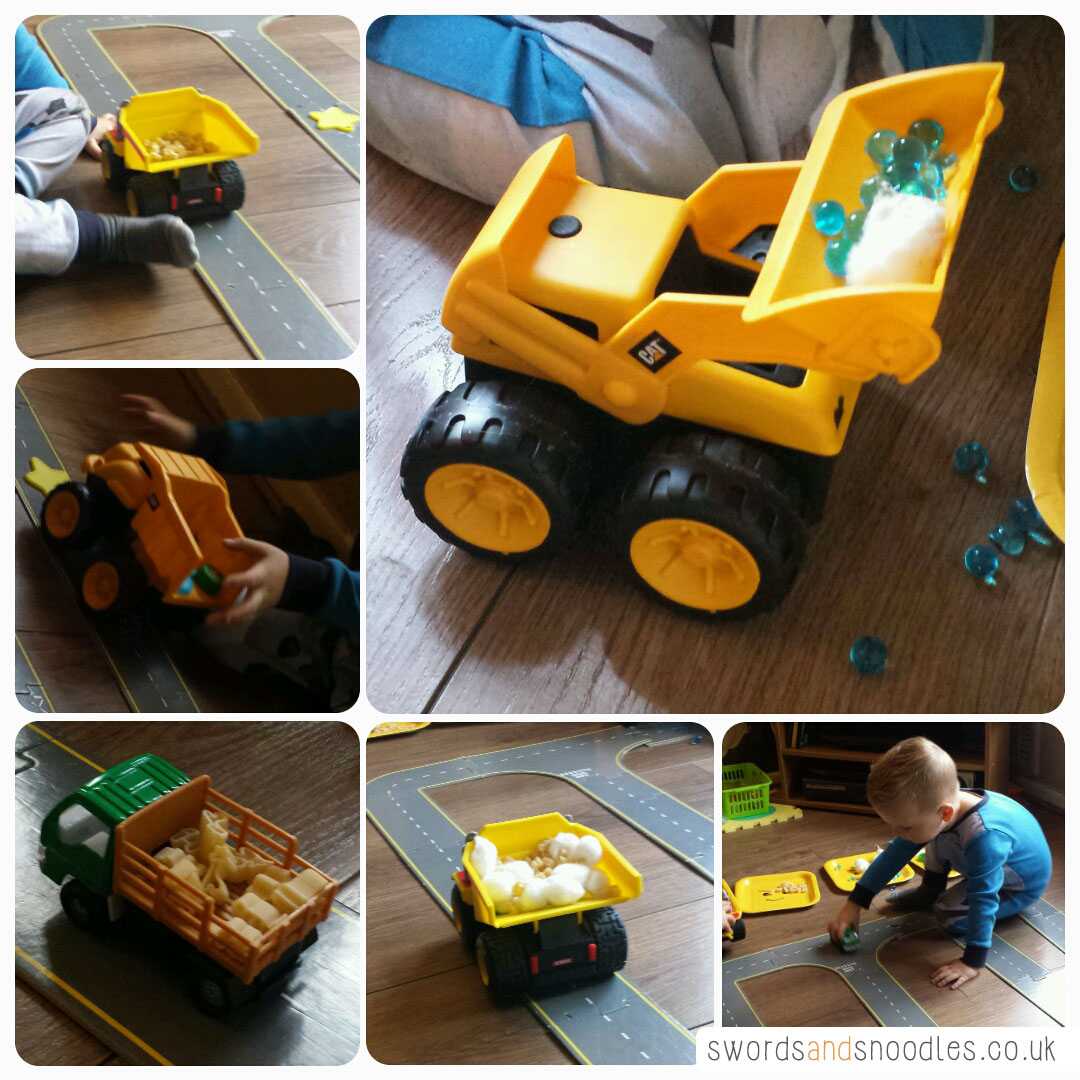 Transport themed sensory activity for children
