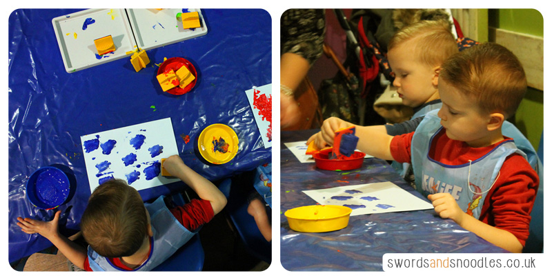 Painting and stamping and sea life centre birmingham