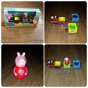 Peppa Pig Weebles Pull-Along Wobbily Train
