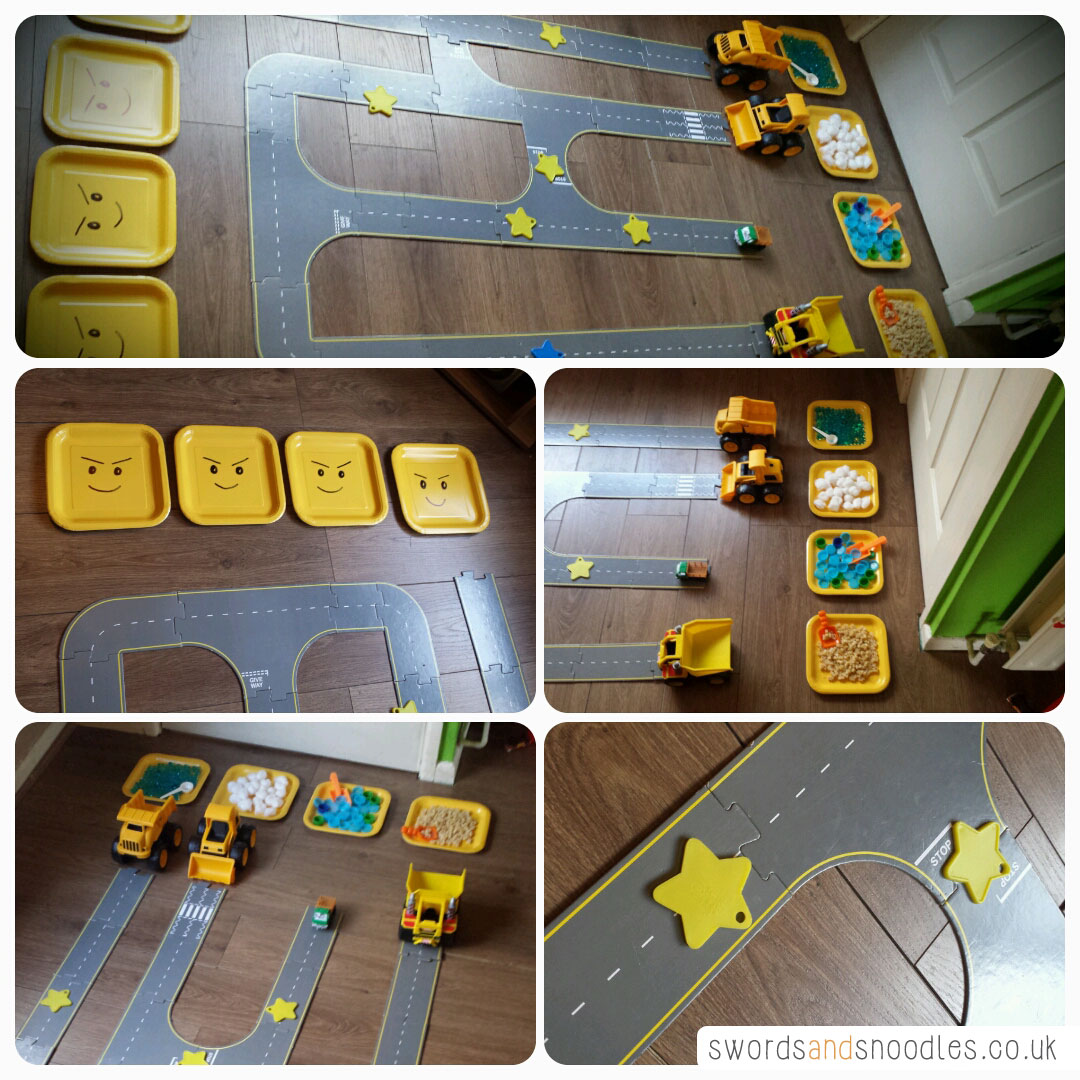 Transport Sensory Activity track set up