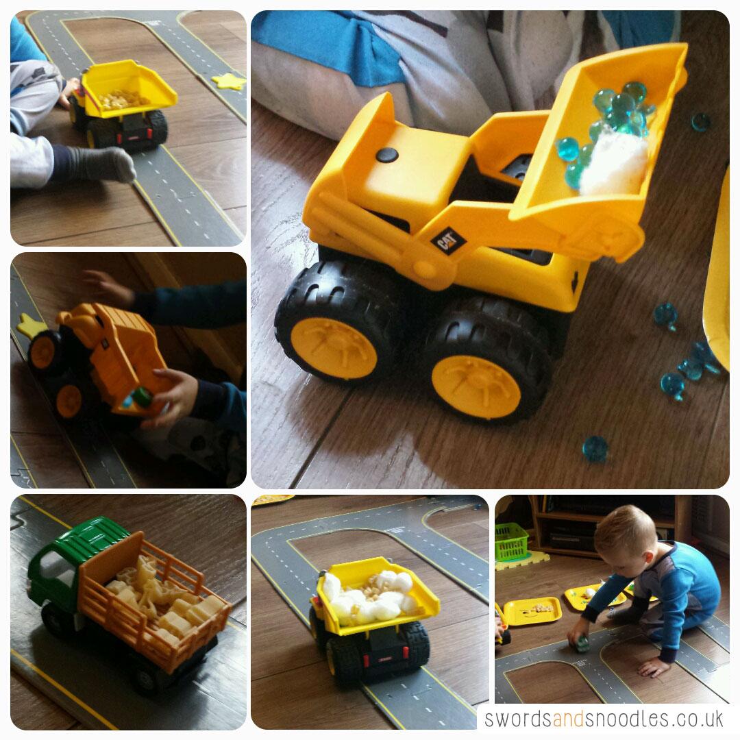 Transport themed sensory activity for children