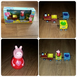 Peppa Pig Weebles Pull-Along Wobbily Train